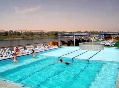 M/S Adonis Nile cruise Swimming pool