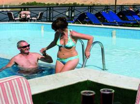 Crown Prince Nile cruise swimming pool