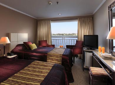 Crown Jewel Nile cruise twin cabin